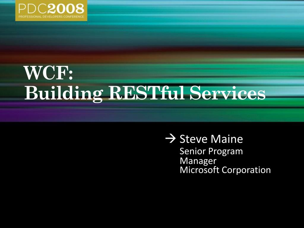 wcf building restful services