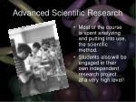 advanced scientific research31
