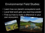 environmental field studies23