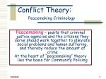 conflict theory peacemaking criminology