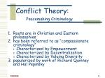 conflict theory peacemaking criminology8