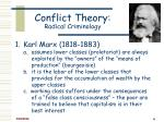 conflict theory radical criminology