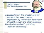 conflict theory the radical perspective