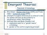 emergent theories feminist criminology