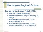 phenomenological school11