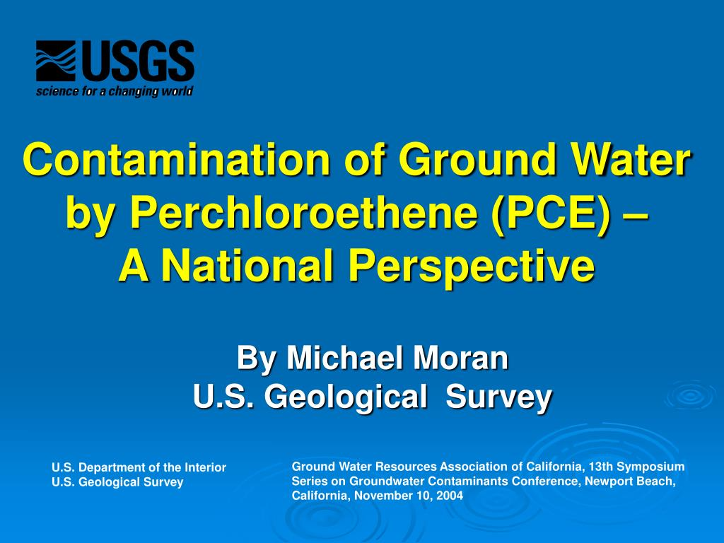 contamination of ground water by perchloroethene pce a national perspective l.