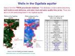 wells in the ogallala aquifer