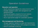 operation guidelines