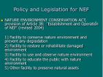 policy and legislation for nef