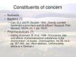 constituents of concern