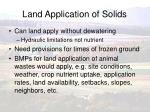 land application of solids