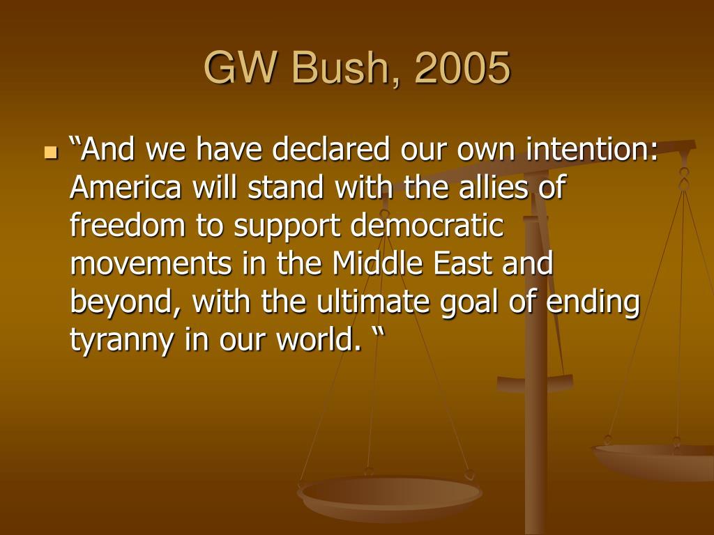 GW Bush, 2005