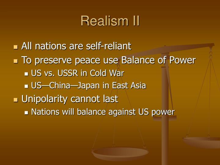 Realism ii