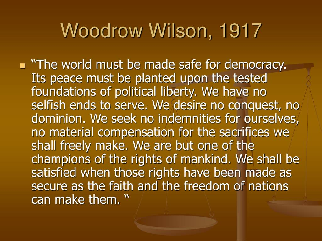 Woodrow Wilson, 1917