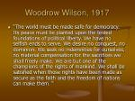 woodrow wilson 1917