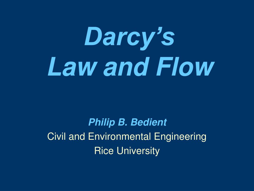 darcy s law and flow l.