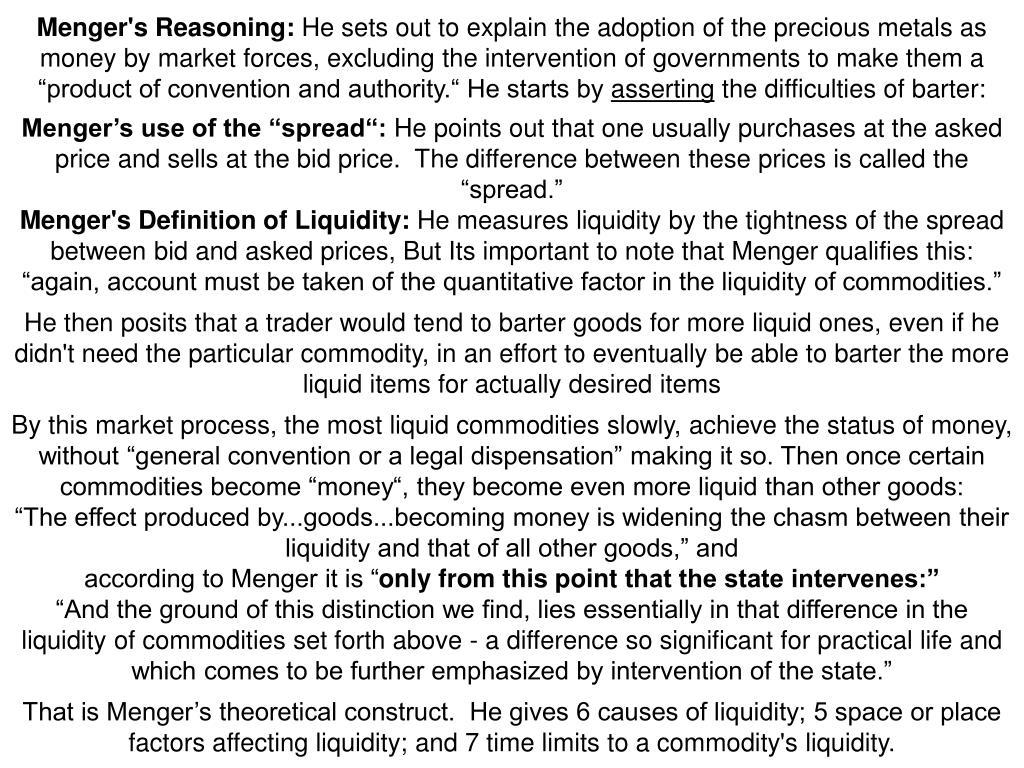 Menger's Reasoning: