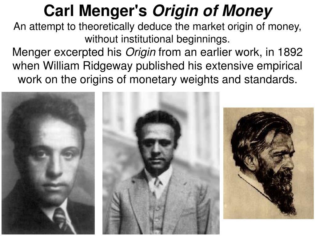 Carl Menger's
