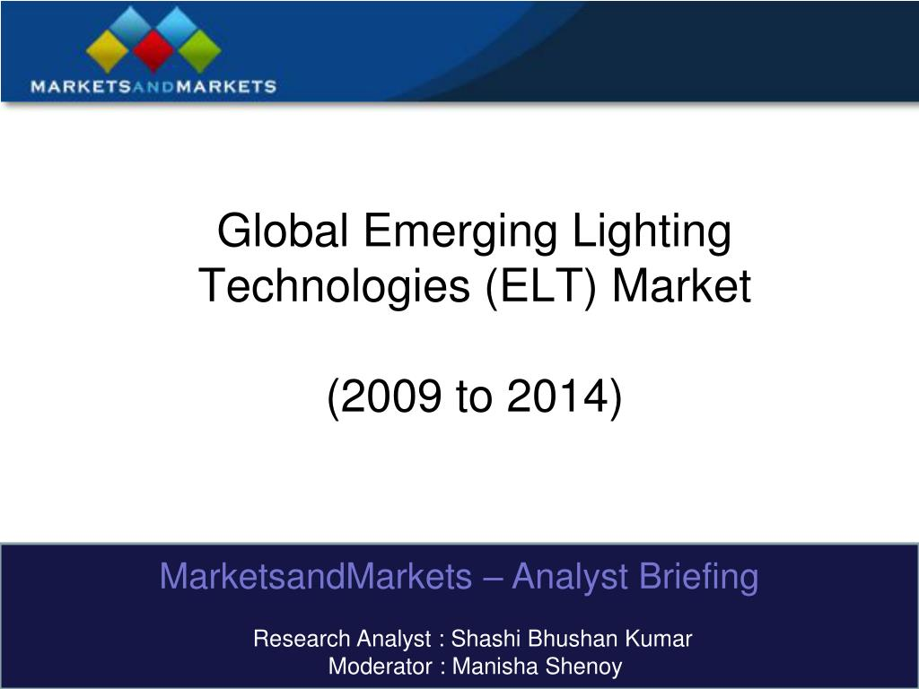 global emerging lighting technologies elt market 2009 to 2014 l.