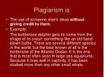 plagiarism is