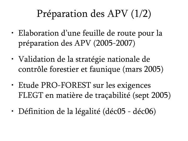 Pr paration des apv 1 2