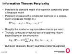 information theory perplexity