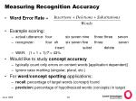 measuring recognition accuracy