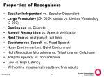properties of recognizers