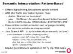 semantic interpretation pattern based
