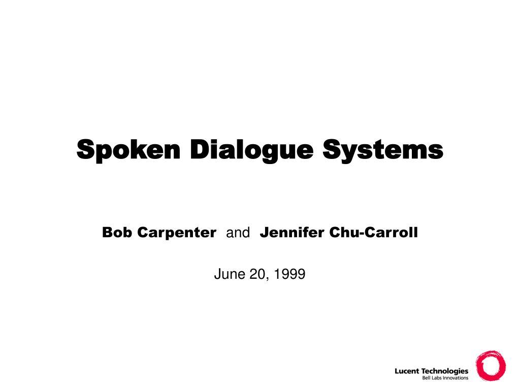 spoken dialogue systems l.