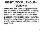 institutional english follows29