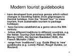 modern tourist guidebooks