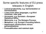 some specific features of eu press releases in english