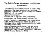 the british press from paper to electronic newspapers