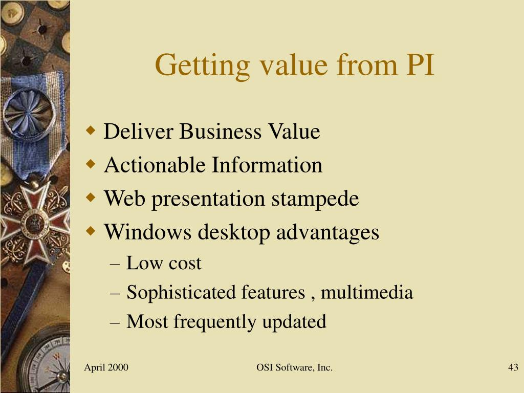 Getting value from PI