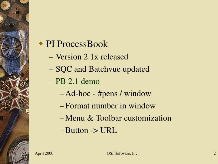 PI ProcessBook