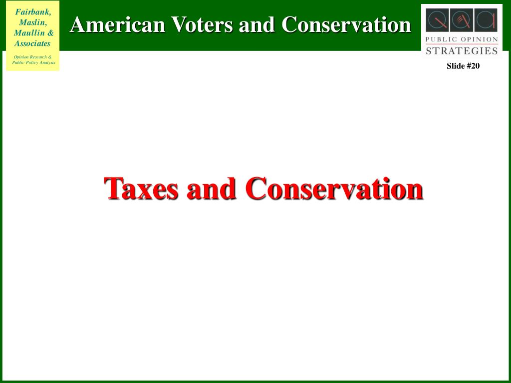 Taxes and Conservation