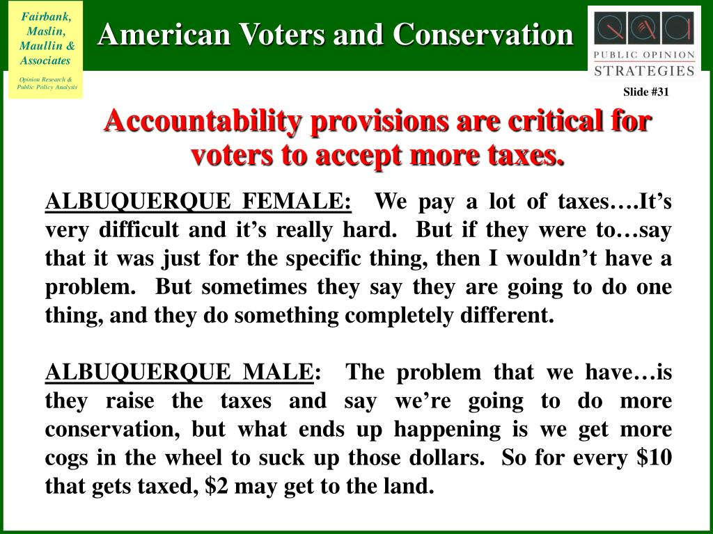 Accountability provisions are critical for voters to accept more taxes.