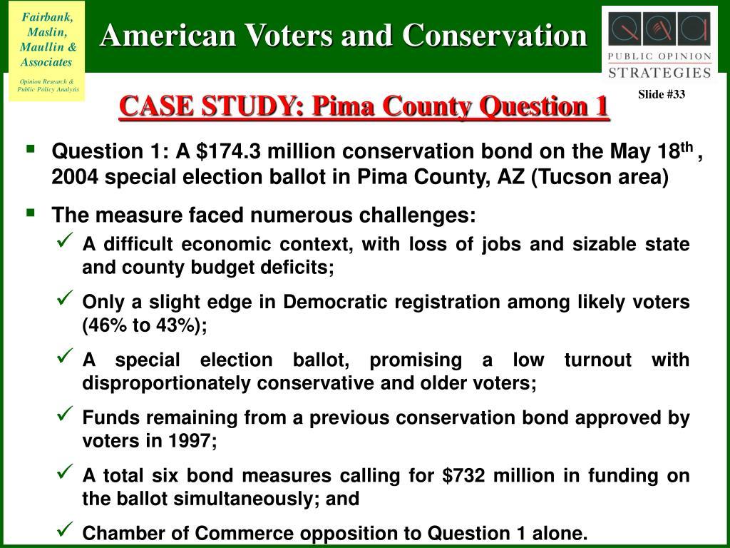 CASE STUDY: Pima County Question 1