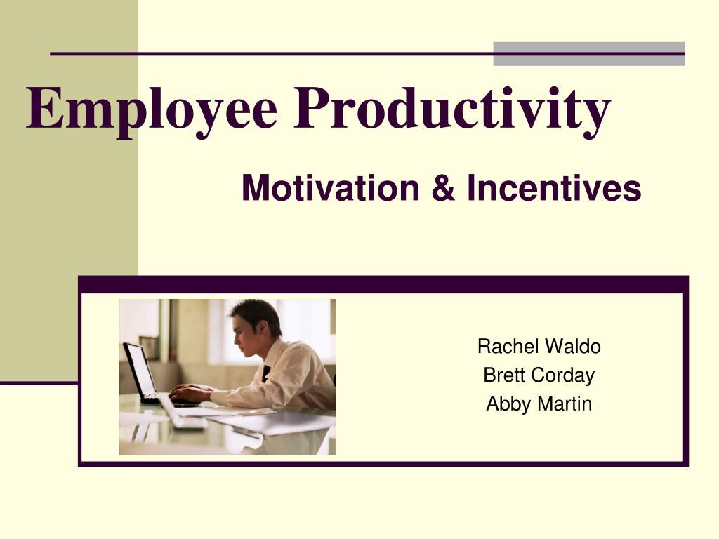 employee productivity l.