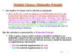 multiple clauses minimality principle