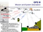 gps iii mission and system description