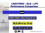 lnav vnav gls lpv performance comparison