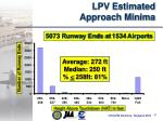 lpv estimated approach minima
