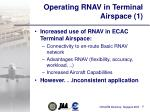 operating rnav in terminal airspace 1