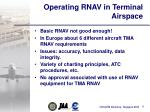 operating rnav in terminal airspace