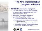 the apv implementation program in france36