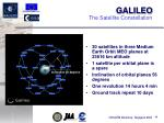 the satellite constellation