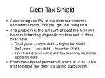 debt tax shield