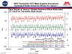 gps transmitter pcv maps explain anomalous estimated radial antenna offsets for jason 1